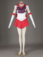 [ Custom Made ] Fashion Sailor Moon Cosplay Costume Hino Rei 1st original version cos Red women clothes Dropshipping