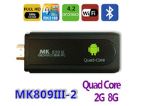 NEW UG007B Quad Core MINI pc with Android 4.2 RK3188 RAM 2GB ROM 8GB Bluetooth HDMI WIFI Smart TV Box dongle Full HD 1080P/2160P