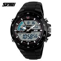 2014 New Luxury Brand Skemi Men Quartz Digital Dual Time Watches Hours Army Military Men Sports Watches Rubber Jelly Strap Reloj