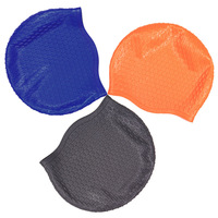 2013 silica gel bubble cap women's swimming cap ultralarge male waterproof ear ultra elastic swimming cap