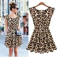 Women's Dresses Selling Sweater Elegant Classical Vintage Sleeveless Pinup Leopard Loose Casual summer Mini Print Dresses