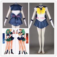 [ Custom Made ] Cartoon Sailor Moon Cosplay Costumes Tenoh Haruka 1st original version cos women clothes Dropshipping