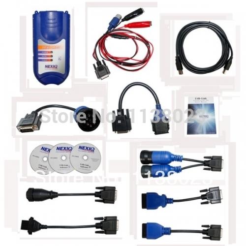 AQkey DHL Ship Nexiq USB-link 125032 Truck Scanner Tester NEXIQ 125032 USB Link + Software Diesel Truck Diagnostic Interface(China (Mainland))