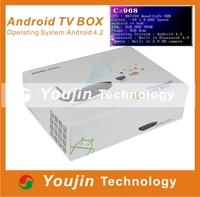 Viigoo Android 4.2.2 RK3188 Quad Core Android TV Box CS968 Web Cam Mic RK3188 2G RAM 8G ROM WiFi Remote Control