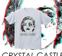 2014 New Crystal crystal castles t shirt tee t-shirt band screen printing 3d