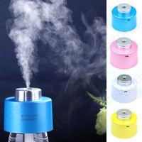 New USB Portable Mini Water Bottle Caps Humidifier Air Diffuser Aroma Mist Maker