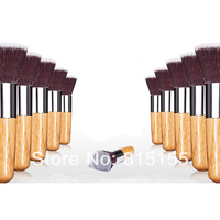 Free shipping High Quality cosmetic brush blush brush makeup foundation brush BAMBOO Flat Top Makeup Brushe