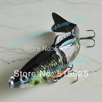 Free Shipping Fishing Lure Bait Swimbait  4 Segments Bass Fishing Bait 25g