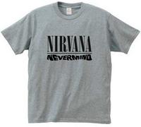 2014 New Nirvana kurt cobain tee t-shirt silk screen printing