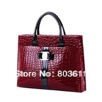 Fashion Style Women Ladies Crocodile Pattern Hobo Handbag Tote Bags # Free Shipping Promotion