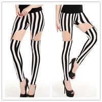 Hollow Out Zebra New Spring 2014 Leggings For Women Punk Jeans Women Legging Fashion Footless Leggings Sport Leggins Girl Pant