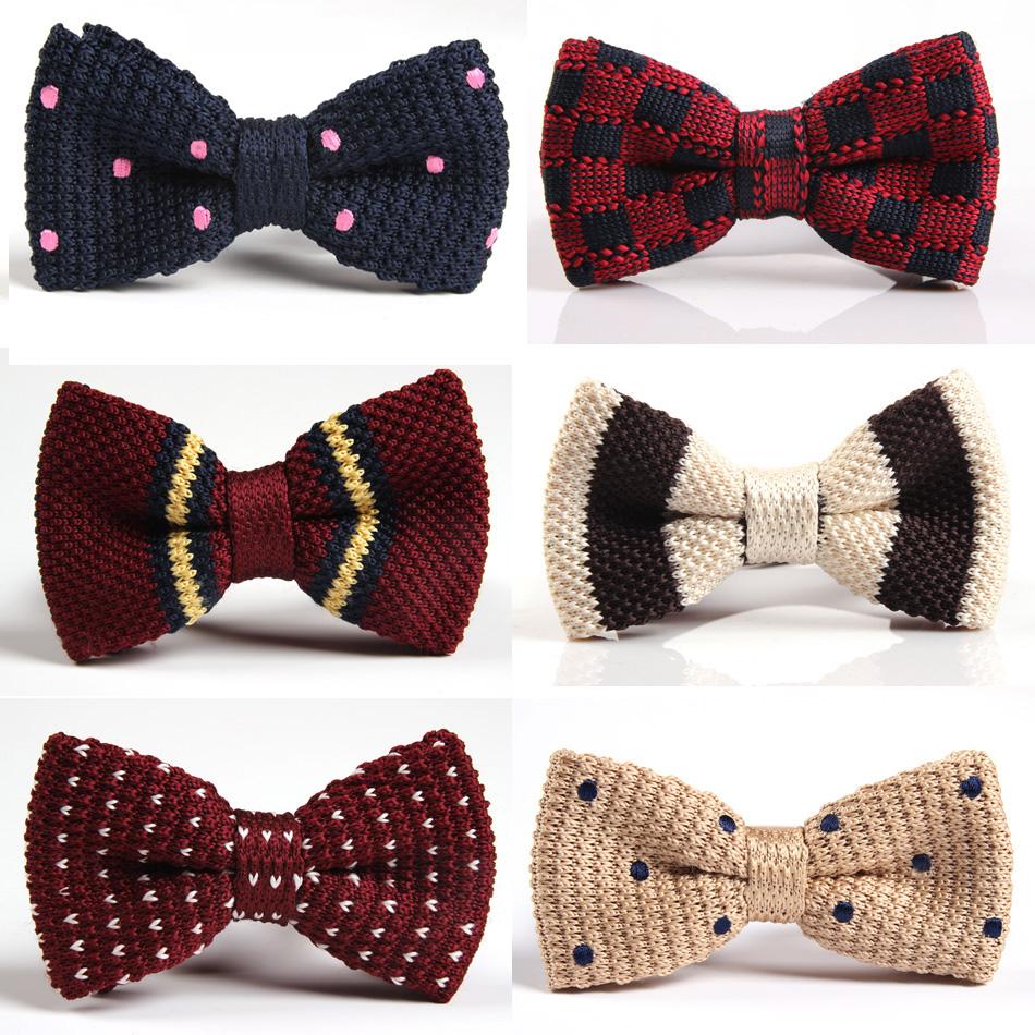 Вязанные галстук-бабочки