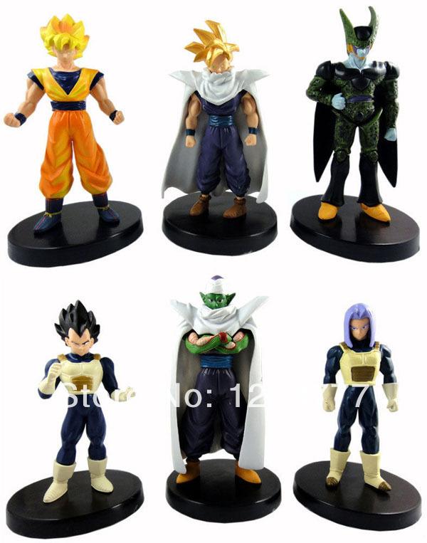 Dragonball Z Dragon Ball DBZ Trunks Piccolo Vegeta Goku Cell Gohan 6 Figures Set(China (Mainland))
