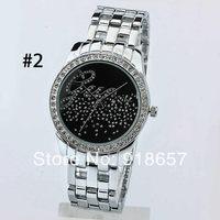 New 2014 Women Rhinestone Watches Fashion Luxury Brand Ladies Dress Watches Casual Men Full Steel Quartz G Wristwatches 4 Color