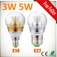 Free Fedex 3W 360 Degree LED Light Bulb E14 E27 Samsung SMD 5630 LED AC85-265V LED Global Spot Light Bulb Lamp