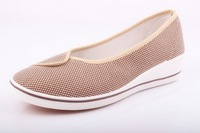 2014 canvas shoes white nurse shoes work shoes series Wedge goosegrass bottom Shoes in higher adult shoes