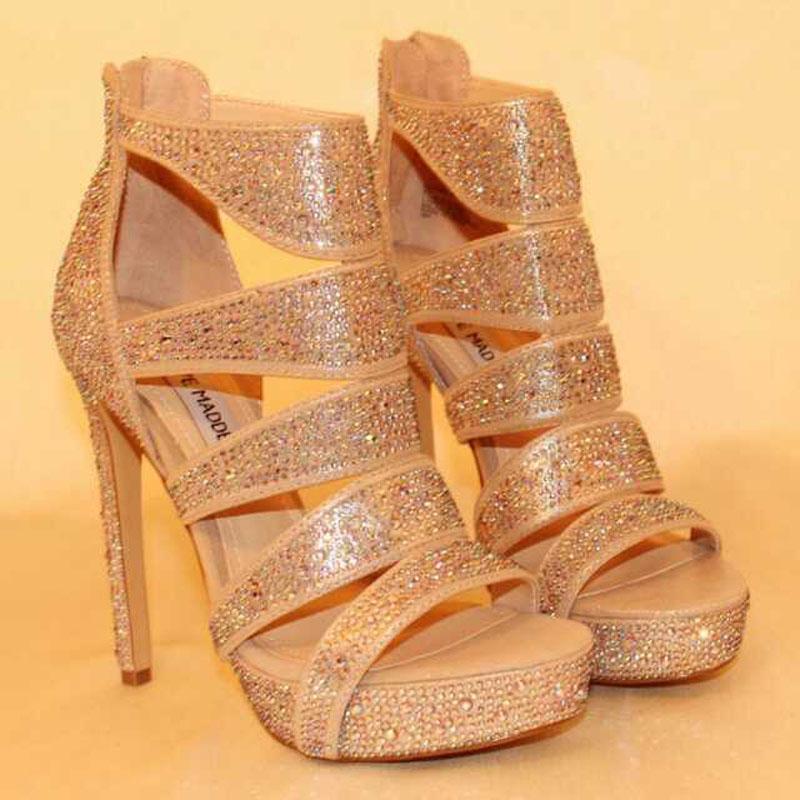 2014 Sommer marke sandaletten, römerinnen sandalen, diamant dünnen ferse high heels, sexy party schuhe größe 35-39 versandkostenfrei
