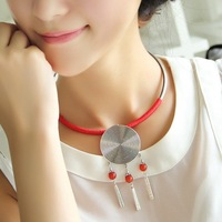 For nec  klace national vintage personality trend accessories necklace miao silver necklace female