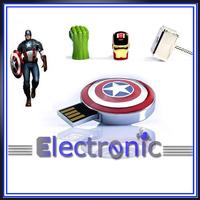 Dropsale captain america shield  usb 2.0 memory pen disk thumb  flash drive gift for 4gb 8gb 16gb 32gb
