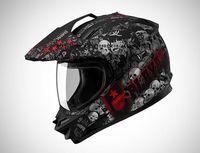 SOL-SS1 PG-0158,Dual-Sport Helmet,Skull Design,3 Type Changeable,Anti-UV Visor, COOLMAX Lining,DOT Test