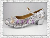 Shoes dance shoes dance shoes ballroom dance shoes Latin shoes Latin dance shoes silver paillette