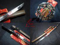 battle ready dragon tsuba 9260 spring steel katana sword hualee wood sheath sharpend blade