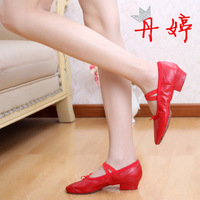 2014 Top Fashion Sale Ballroom Dance Shoes Strap Teachers Shoes Women's Ballet Dance Soft Outsole National Belly Yoga Cat's Claw