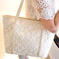 2014 women's handbag vintage lace bag crochet handbag one shoulder cross-body women's bags bucket bag