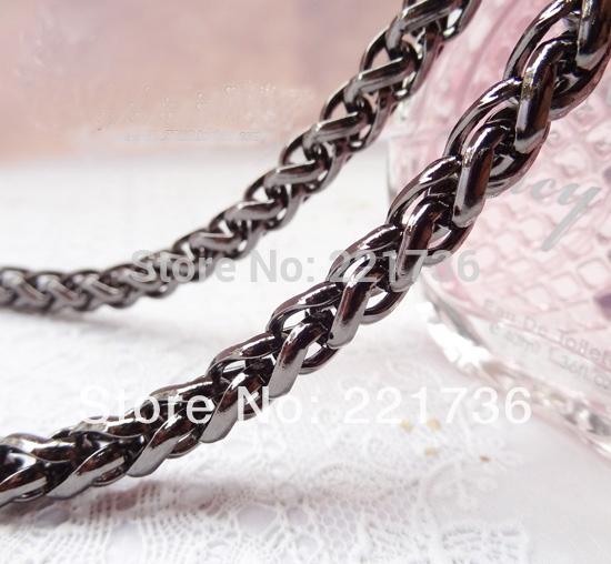 Top Grade Gun Black Diy 8mm Width Lantern Chain Metal Iron Handbag Chains Purse Handles Clutch Straps 19.7 Inches(China (Mainland))