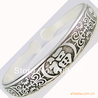 Antique Unusual Details about Hot! Tibetan Tibet silver Totem Bangle Cuff wholesale 100pcs 50[pair] bracelets Antique Men's