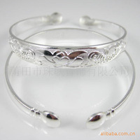 Unusual silver fire silver jewelry TOTEM BANGLE CUFF BRACELET FLOWER VINES wholesale 100pcs 50[pair] bracelets Antique Men's