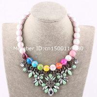 fashion cheap daisy bib statement flower necklace classic custom 867
