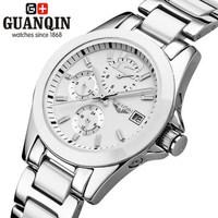Switzerland brand  ladies Ceramics automatic mechanical watches waterproof Korean fashion watch white big digital wristwatch