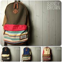 Navy national trend canvas natural hemp backpack casual bag school bag backpack