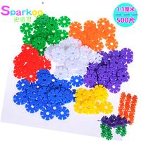 2014 new outdoor fun & sports, Snowflakes Medium 500 plastic building blocks futhermore baby