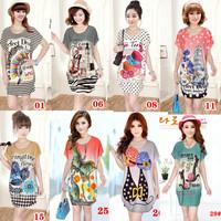 2014 summer loose t-shirt short-sleeve medium-long plus size clothing basic t shirt viscose