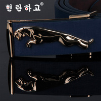 Korean version of casual men's belt buckle smooth ladies fashion belt buckle factory direct leather A105 letters