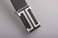 Smooth leather belt buckle belt Men Women Korean alphabet belt buckle genuine leather casual A078