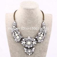 fashion wedding  statement jewelry collar necklace with big flower 885