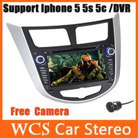 2 Din Car DVD Automotivo GPS For Hyundai Solaris Verna Accent 2011-2012 W/GPS Navi+Radio+Audio+Stereo+central multimidia Styling