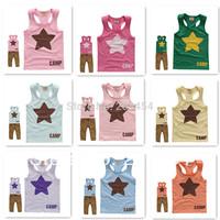 Retail New 2014 Summer Children Vest Kids T shirt Cotton Candy color Hot sale #LS 8-5