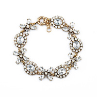 Fashion Jewelry Vintage Crystal Flower Cross Chain Bracelets & Bangles For Women Factory Wholesale Cheap
