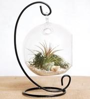 Steel Hanging Glass Vase Hanger Metal Stand Hook Vase Holder