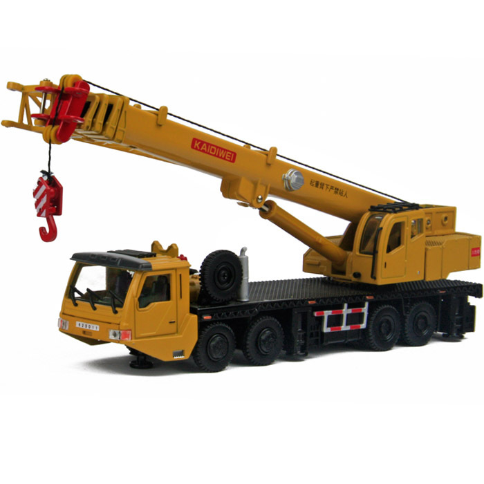 2014 Sale Real Freeshipping Metal Truck Alloy Toys Construction Crane Heavy Duty 8 Wheel Mainest Rotating Tensile(China (Mainland))