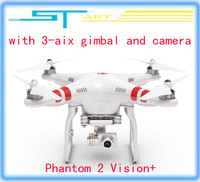 2014 hot selling DJI Phantom 2 Vision+ GPS RC Quadcopter 5.8G Radio FPV Camera and 3 aix gimbal RTF helicopter low shipp boy toy
