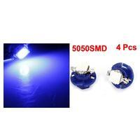 B8.4-5050-1 SMD LED Blue Car Gauge Panel LED Light Bulb 4 Pcs
