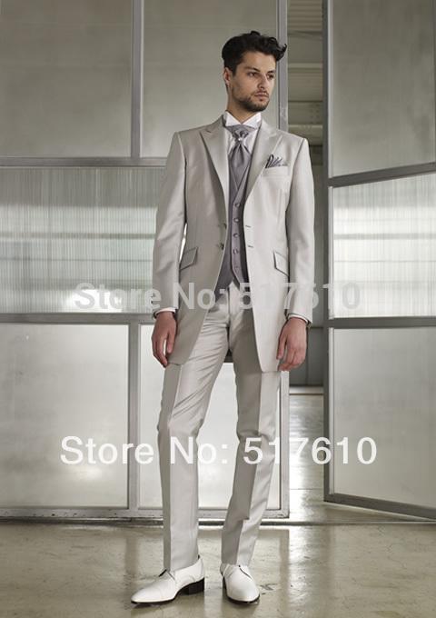 New Classic Men\'s Luxury Suits Groom Dress 2017 Business Suit ...