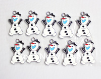 20Pcs gift  Olaf  Metal Charms pendants DIY Jewellery Making crafts
