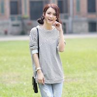 Free Shipping Tx750 2014 spring women's loose slim long-sleeve T-shirt basic shirt
