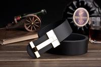 Korean men , Ms. belt buckle belt Smooth leather belt genuine factory direct letters customized A066